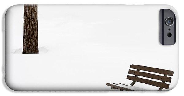Snowed Trees Photographs iPhone Cases - Winter Scene iPhone Case by Steve Gadomski
