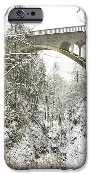 Winter, Shepperds Dell, Columbia River iPhone Case by Craig Tuttle