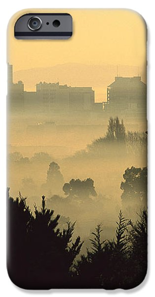 Winter Smog Over The City iPhone Case by Colin Monteath