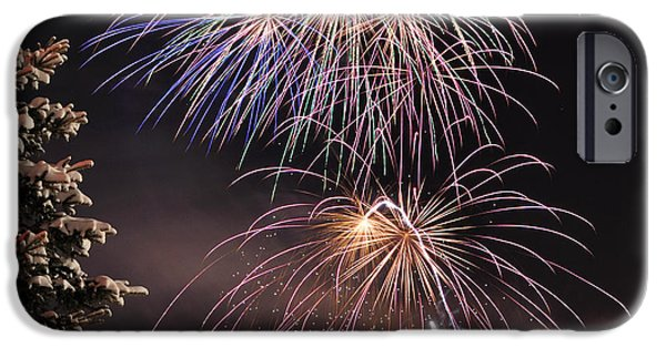 Fireworks iPhone Cases - Winter Solstice Fireworks iPhone Case by Gary Whitton