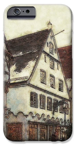 Winterly Old Town iPhone Case by Jutta Maria Pusl
