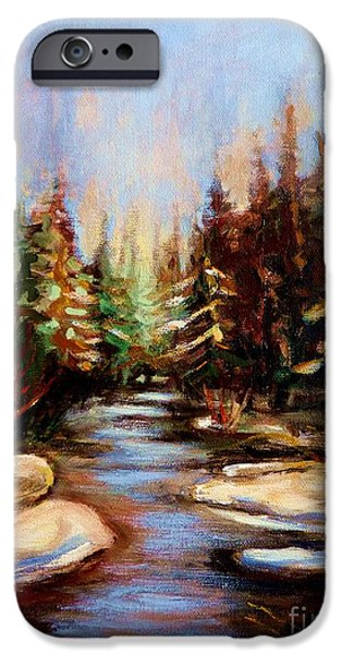 Winter In Maine iPhone Cases - Winterstream iPhone Case by Carole Spandau