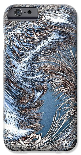 Wintry Digital iPhone Cases - Wintry Pine Needles iPhone Case by Will Borden