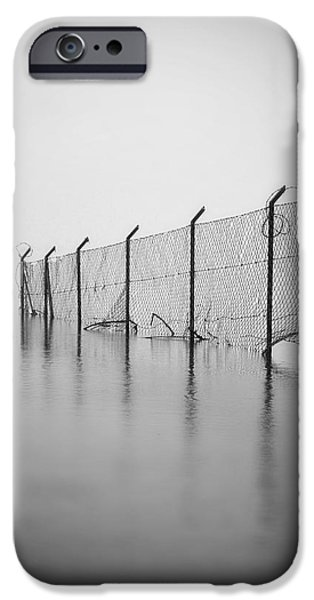 Barbed Wire Fences iPhone Cases - Wire Mesh Fence iPhone Case by Joana Kruse