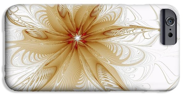 Best Sellers -  - Floral Digital Art Digital Art iPhone Cases - Wispy iPhone Case by Amanda Moore