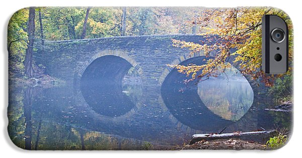 Mist iPhone Cases - Wissahickon Creek at Bells Mill Rd. iPhone Case by Bill Cannon