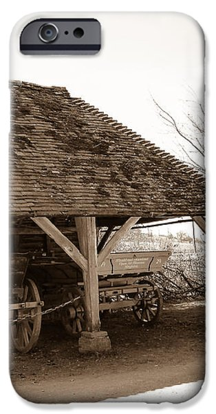 Wiston Wagon Shed iPhone Case by Dawn OConnor