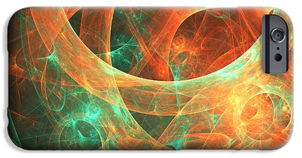 Abstract Digital Art iPhone Cases - Within iPhone Case by Lourry Legarde