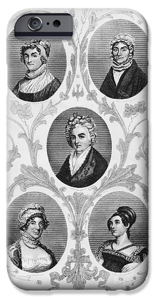 Dolley iPhone Cases - Wives Of Founding Fathers iPhone Case by Granger