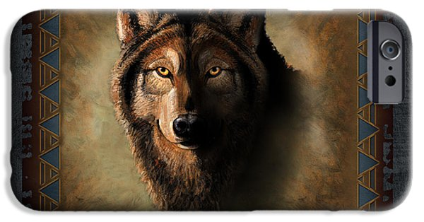 Games Paintings iPhone Cases - Wolf Lodge iPhone Case by JQ Licensing