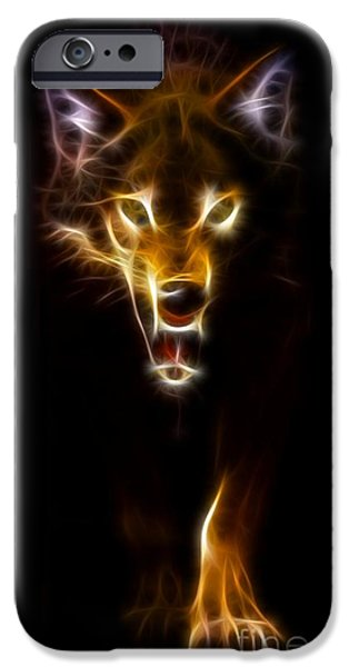Wild Animals iPhone Cases - Wolf Ready to Attack iPhone Case by Pamela Johnson