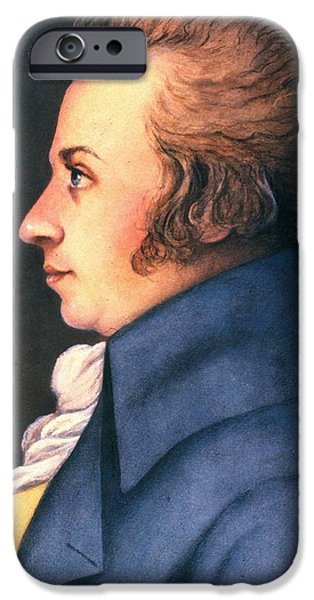 WOLFGANG AMADEUS MOZART iPhone Case by Granger