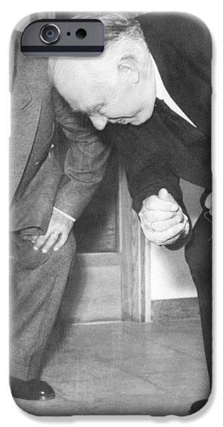 Wolfgang Pauli and Niels Bohr iPhone Case by Margrethe Bohr Collection and AIP and Photo Researchers