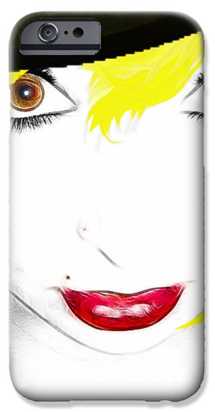 Woman 13-2 cropped square iPhone Case by Cheryl Young