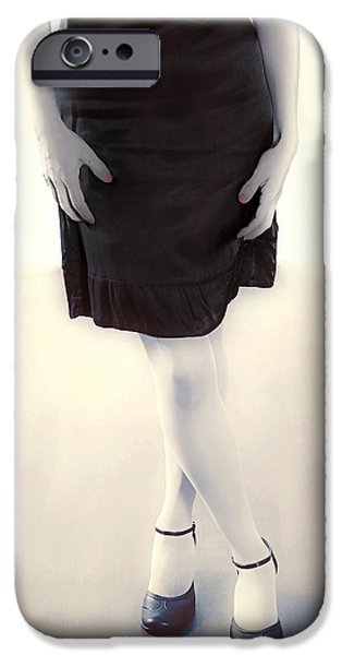 Attitude iPhone Cases - Woman In A Dress iPhone Case by Joana Kruse
