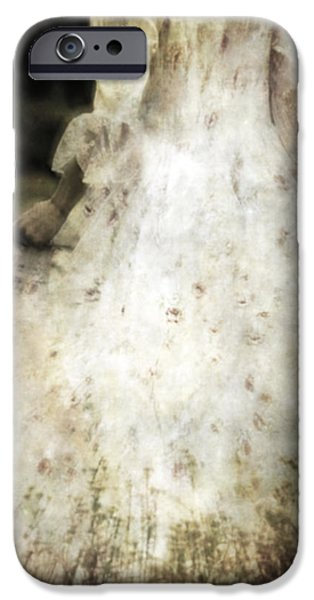 Edwardian iPhone Cases - Woman In A Meadow iPhone Case by Joana Kruse