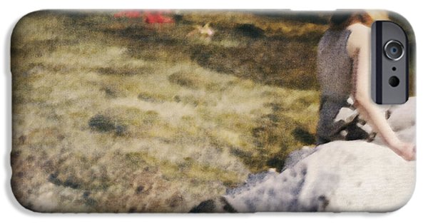 Young Photographs iPhone Cases - Woman In A River iPhone Case by Joana Kruse