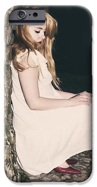 Young Photographs iPhone Cases - Woman In An Alley iPhone Case by Joana Kruse