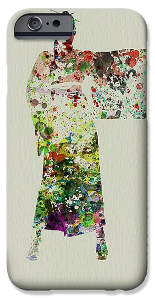 Theater iPhone Cases - Woman in Kimono iPhone Case by Naxart Studio