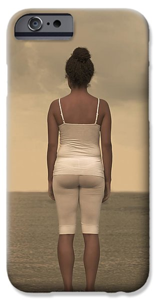 Straps iPhone Cases - Woman On The Beach iPhone Case by Joana Kruse