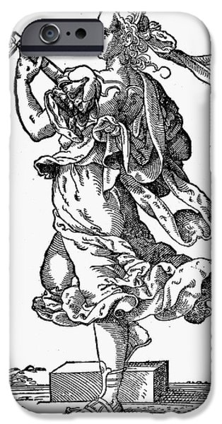 WOMAN PLAYING THE LUTE iPhone Case by Granger