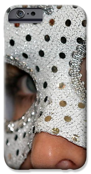 Woman with Mask iPhone Case by Henrik Lehnerer
