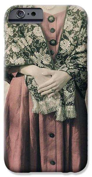 woman with shawl iPhone Case by Joana Kruse