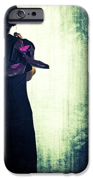 woman with shoes iPhone Case by Joana Kruse