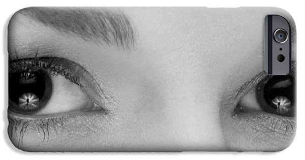 Woman Photographs iPhone Cases - Womans Eyes iPhone Case by Dustin K Ryan