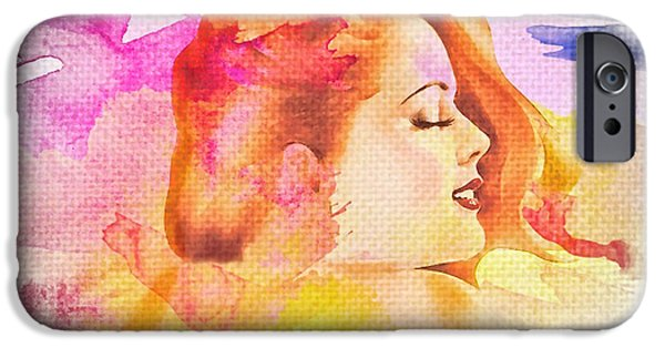 Torn iPhone Cases - Womans Soul Part 4 iPhone Case by Mo T