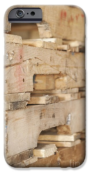 Wood Pallets iPhone Case by Shannon Fagan
