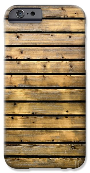 Old Plank Tables Photographs iPhone Cases - Wood Planks iPhone Case by Carlos Caetano