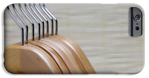 Coat Hanger iPhone Cases - Wooden Clothes Hangers iPhone Case by Skip Nall