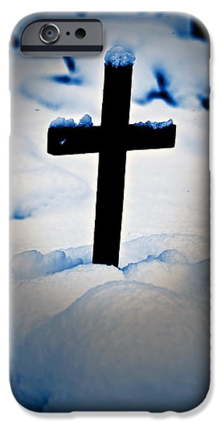 wooden cross iPhone Case by Joana Kruse
