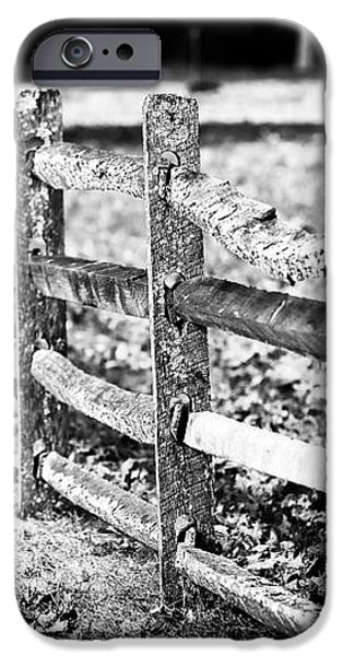 Wooden Fence iPhone Case by John Rizzuto
