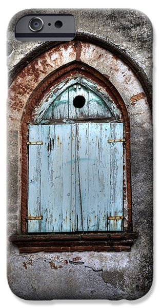 Painted Wood iPhone Cases - Wooden Window Shutters iPhone Case by Joana Kruse