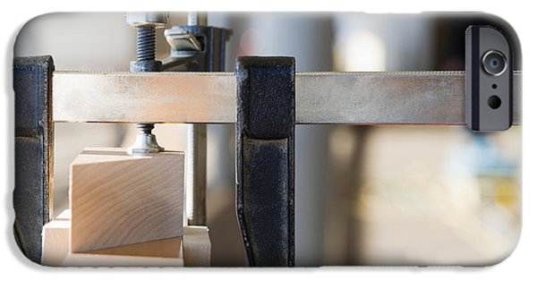 Vise iPhone Cases - Woodworking Clamps iPhone Case by Andersen Ross