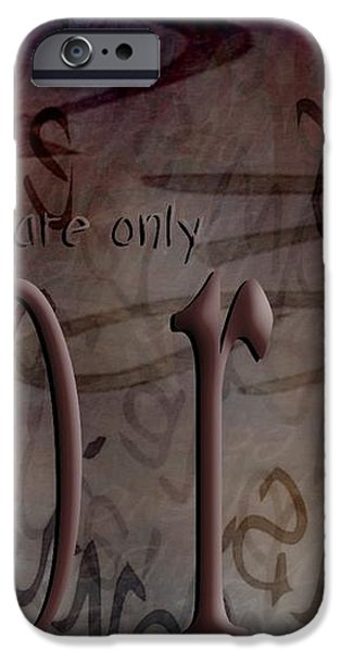 Words Are Only Words 2 iPhone Case by Vicki Ferrari