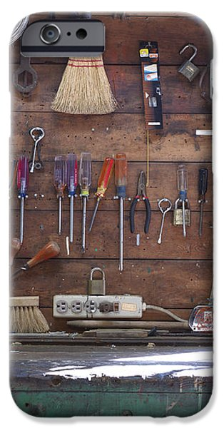 Work Bench and Tools iPhone Case by Adam Crowley