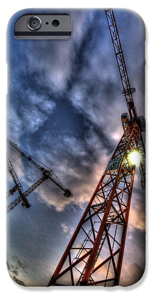Building Site iPhone Cases - Working high. iPhone Case by Nathan Wright