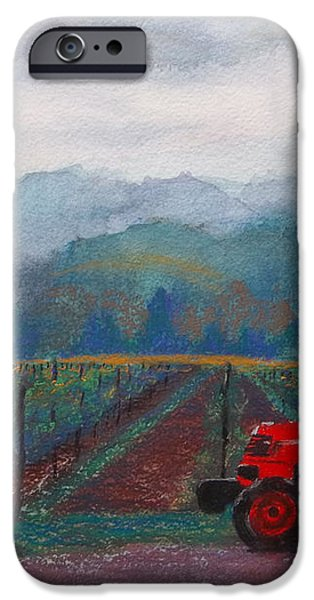 Working the Vineyard iPhone Case by Becky Chappell