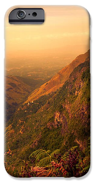 Worlds End. Horton Plains National Park. Sri Lanka iPhone Case by Jenny Rainbow