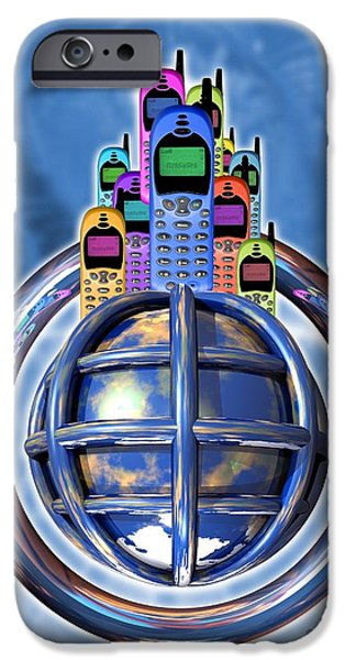 Worldwide Mobile Telephone Use iPhone Case by Victor Habbick Visions