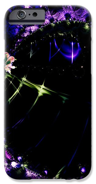 Wormhole Beyond . Square . S4a.S10 iPhone Case by Wingsdomain Art and Photography
