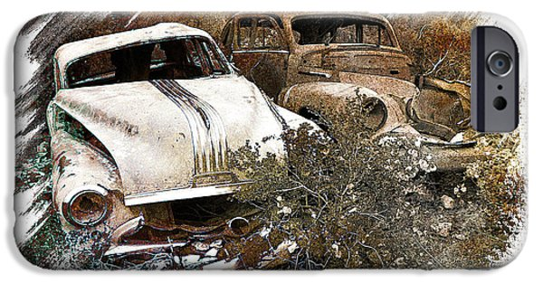 Rust Pyrography iPhone Cases - Wreck 3 iPhone Case by Mauro Celotti
