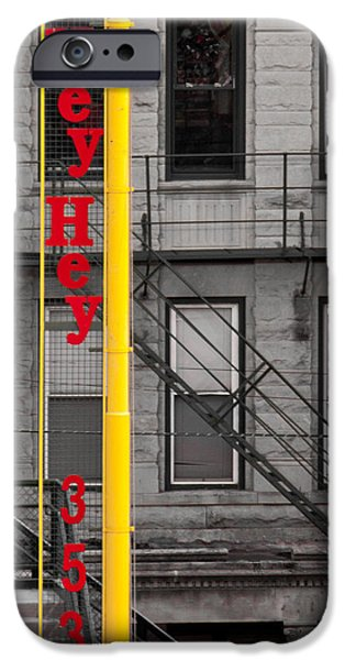 Wrigley iPhone Cases - Wrigley Field Right Field Foul Pole iPhone Case by Anthony Doudt