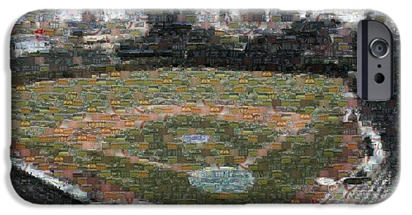 Chicago Cubs iPhone Cases - Wrigley Mosaic iPhone Case by David Bearden