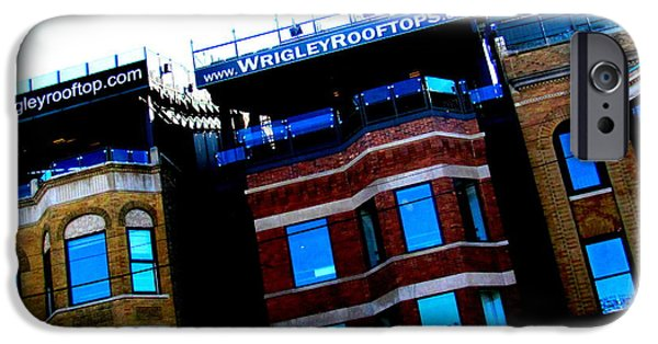 Wrigley iPhone Cases - Wrigley rooftops iPhone Case by Karl Haglund
