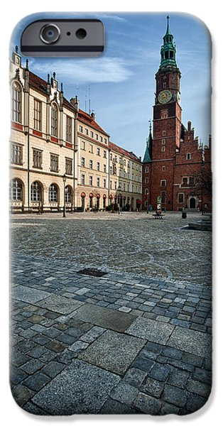 Continent iPhone Cases - Wroclaw Town Hall iPhone Case by Sebastian Musial