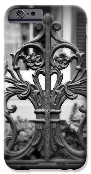 Wrought Iron Detail iPhone Case by Perry Webster